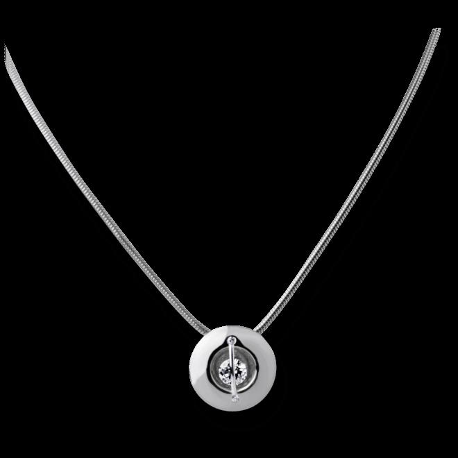 """Halskette mit Anhänger Schaffrath Liberté """"Der Schöne"""" aus 750 Weißgold und 800 Platin mit 3 Brillanten (0,32 Karat)"""