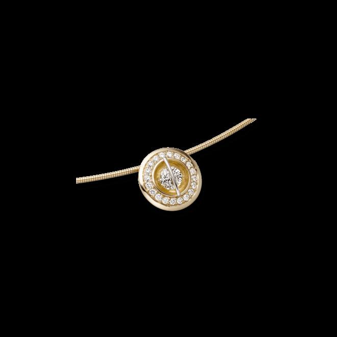 """Halskette mit Anhänger Schaffrath Liberté """"Der Schöne"""" aus 750 Gelbgold und 800 Platin mit 21 Brillanten (0,34 Karat)"""