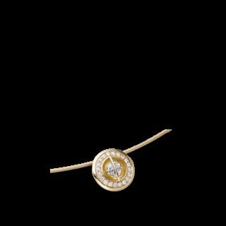 """Schaffrath Halskette mit Anhänger Liberté """"Der Schöne"""" L1150-C-GG-0.34GSI-42"""