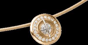 """Halskette mit Anhänger Schaffrath Liberté """"Der Schöne"""" aus 750 Roségold und 800 Platin mit 21 Brillanten (0,34 Karat)"""