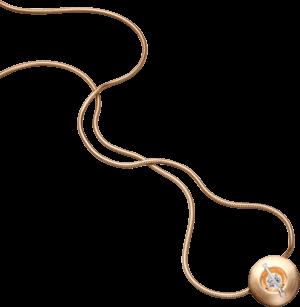 """Halskette mit Anhänger Schaffrath Liberté """"Der Schöne"""" matt aus 750 Roségold und 800 Platin mit 3 Brillanten (0,52 Karat)"""