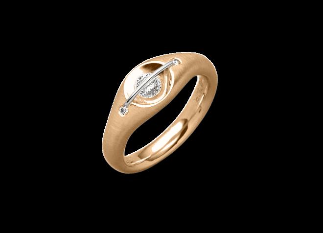 """Ring Schaffrath Liberté """"Der Schöne"""" aus 750 Roségold und 800 Platin mit 3 Brillanten (0,28 Karat)"""