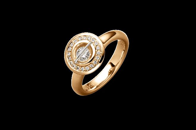 """Ring Schaffrath Liberté """"Der Schöne"""" aus 750 Roségold und 800 Platin mit 21 Brillanten (0,55 Karat)"""