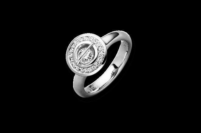 """Ring Schaffrath Liberté """"Der Schöne"""" aus 750 Weißgold und 800 Platin mit 21 Brillanten (0,55 Karat)"""