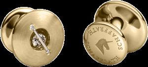 """Manschettenknöpfe Schaffrath Liberté """"Die Begleiter"""" aus 750 Gelbgold mit 6 Brillanten (0,44 Karat)"""