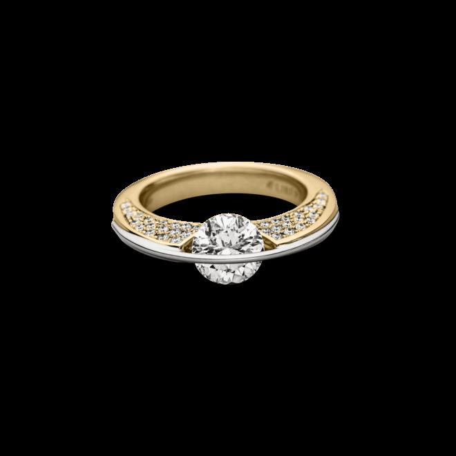 """Ring Schaffrath Liberté """"Die Ikone"""" aus 750 Gelbgold und 800 Platin mit mehreren Brillanten (1 Karat)"""
