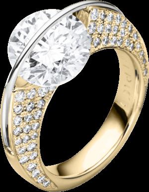 """Ring Schaffrath Liberté """"Die Ikone"""" aus 750 Gelbgold und 800 Platin mit mehreren Brillanten (1,15 Karat)"""