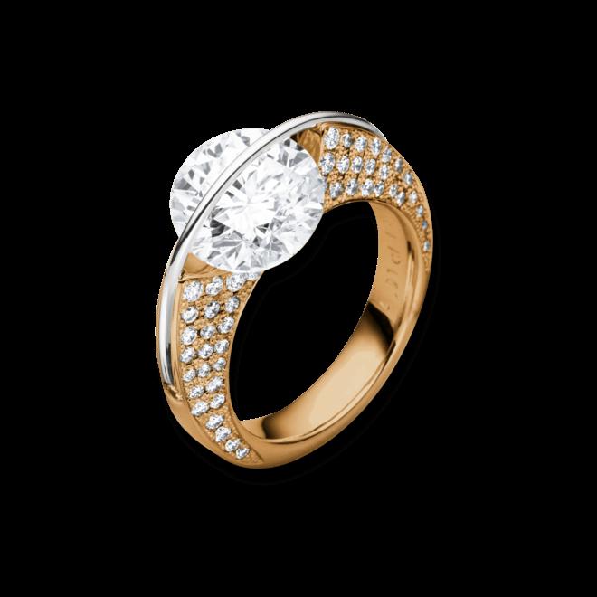 """Ring Schaffrath Liberté """"Die Ikone"""" aus 750 Roségold und 800 Platin mit mehreren Brillanten (1,18 Karat)"""