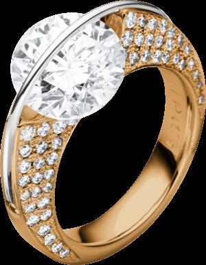 """Ring Schaffrath Liberté """"Die Ikone"""" aus 750 Roségold und 800 Platin mit mehreren Brillanten (1,7 Karat)"""