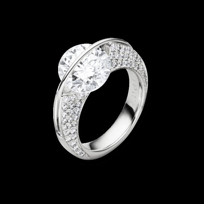 """Ring Schaffrath Liberté """"Die Ikone"""" aus 750 Weißgold und 800 Platin mit mehreren Brillanten (1,63 Karat)"""