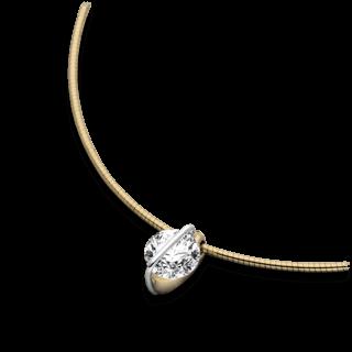 Schaffrath Halskette mit Anhänger Liberté L1002-C-GG-0.31GSI-42