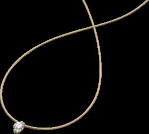 Halskette mit Anhänger Schaffrath Liberté aus 750 Gelbgold und 800 Platin mit 2 Brillanten (0,41 Karat)