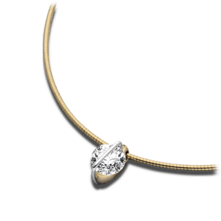 Schaffrath Halskette mit Anhänger Liberté L1002-C-GG-0.71GSI-42