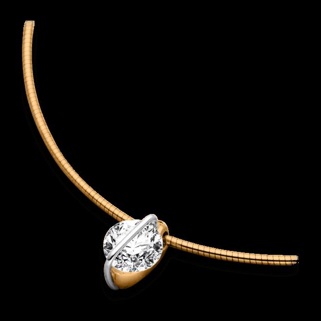 Halskette mit Anhänger Schaffrath Liberté aus 750 Roségold und 800 Platin mit 2 Brillanten (0,71 Karat)