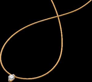 Halskette mit Anhänger Schaffrath Liberté aus 750 Roségold und 800 Platin mit 2 Brillanten (1,01 Karat)