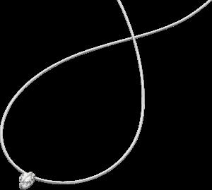 Halskette mit Anhänger Schaffrath Liberté aus 750 Weißgold und 800 Platin mit 2 Brillanten (0,41 Karat)