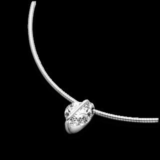 Schaffrath Halskette mit Anhänger Liberté L1002-C-WG-0.41GSI-42