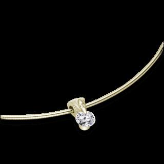 Schaffrath Halskette mit Anhänger Liberté L1051-C-GG-0.26GSI-42