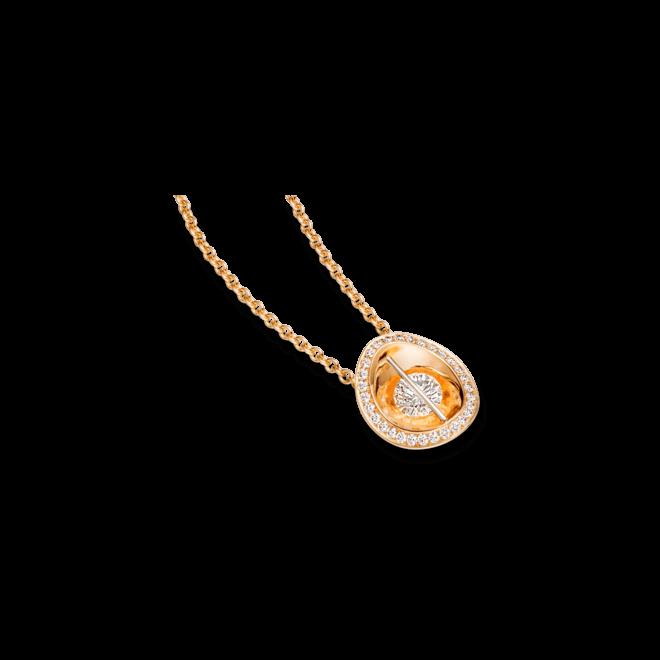 Halskette mit Anhänger Schaffrath Liberté aus 750 Gelbgold und 800 Platin mit mehreren Brillanten (0,58 Karat)
