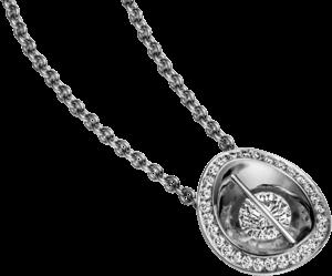 Halskette mit Anhänger Schaffrath Liberté aus 750 Weißgold und 800 Platin mit mehreren Brillanten (0,58 Karat)