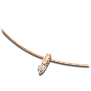 Schaffrath Halskette mit Anhänger Liberté L1755-C-RG-0.38GSI-45
