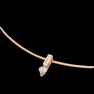 Schaffrath Halskette mit Anhänger Liberté L1755-C-RG-0.55GSI-45