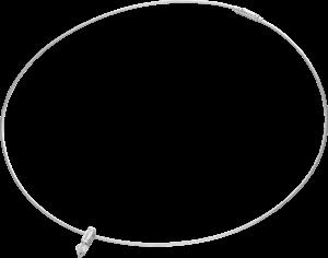 Halskette mit Anhänger Schaffrath Liberté aus 750 Weißgold und 800 Platin mit 2 Diamanten (0,4 Karat)