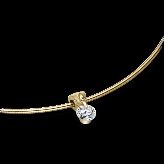 Halskette mit Anhänger Schaffrath Liberté aus 750 Gelbgold mit 2 Brillanten (0,27 Karat)