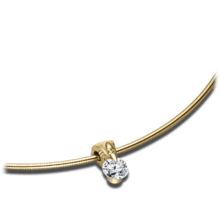 Schaffrath Halskette mit Anhänger Liberté L2051-C-GG-0.27GSI-42