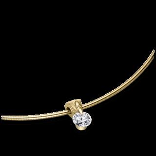 Schaffrath Halskette mit Anhänger Liberté L2051-C-GG-0.32GSI-42