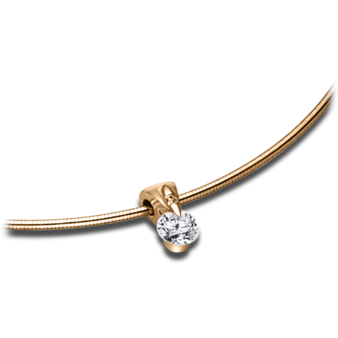Halskette mit Anhänger Schaffrath Liberté aus 750 Roségold mit 2 Brillanten (0,27 Karat)