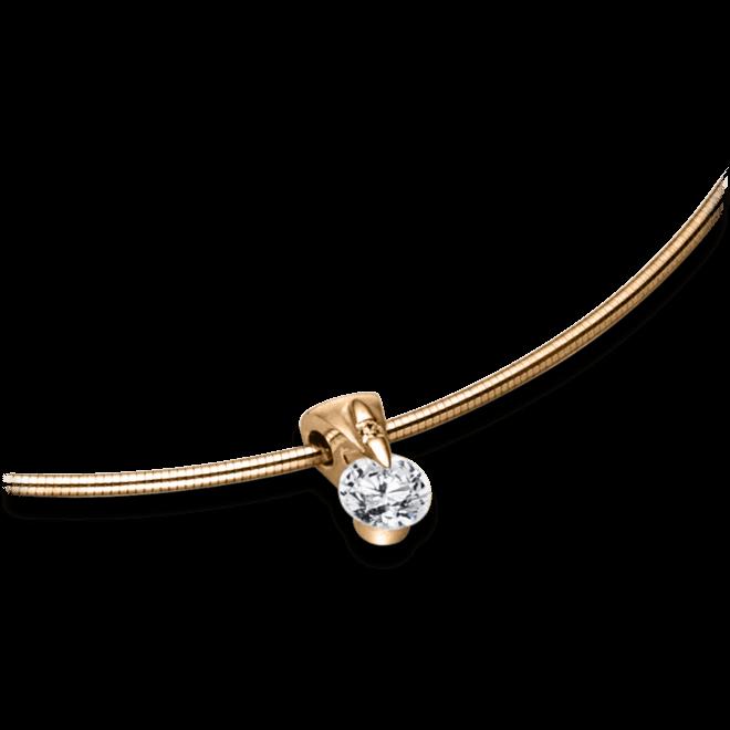 Halskette mit Anhänger Schaffrath Liberté aus 750 Roségold mit 2 Brillanten (0,32 Karat)
