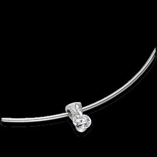Schaffrath Halskette mit Anhänger Liberté L2051-C-WG-0.32GSI-42