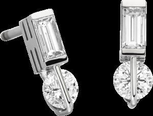 Ohrstecker Schaffrath Liberté aus 750 Weißgold und 800 Platin mit 4 Diamanten (2 x 0,257 Karat)