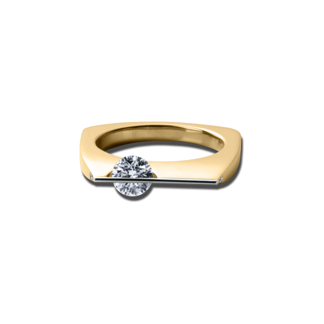 Ring Schaffrath Liberté aus 750 Gelbgold und 800 Platin mit 3 Brillanten (0,43 Karat)