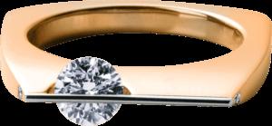 Ring Schaffrath Liberté aus 750 Roségold und 800 Platin mit 3 Brillanten (0,43 Karat)