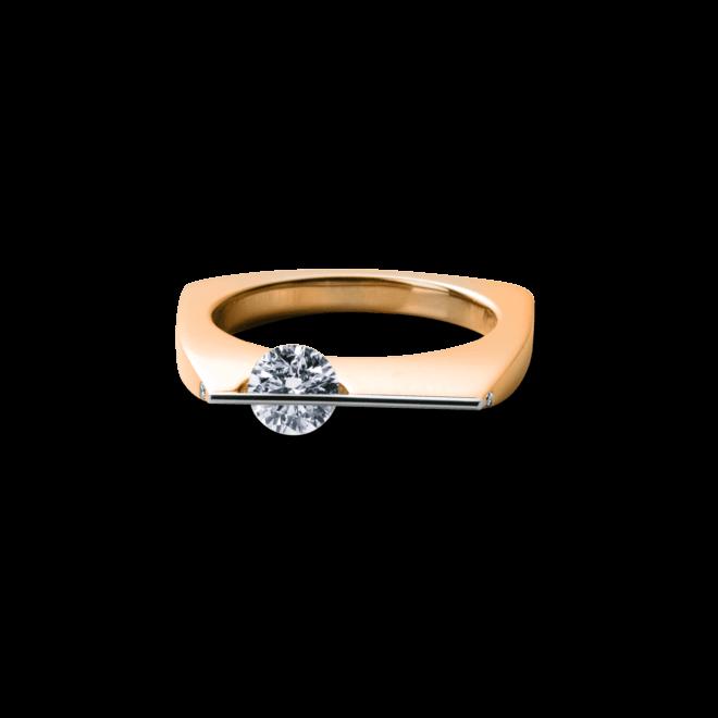 Ring Schaffrath Liberté aus 750 Roségold und 800 Platin mit 3 Brillanten (0,53 Karat)