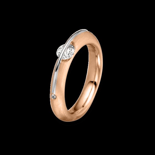 Ring Schaffrath Liberté aus 750 Roségold und 800 Platin mit 3 Brillanten (0,32 Karat)