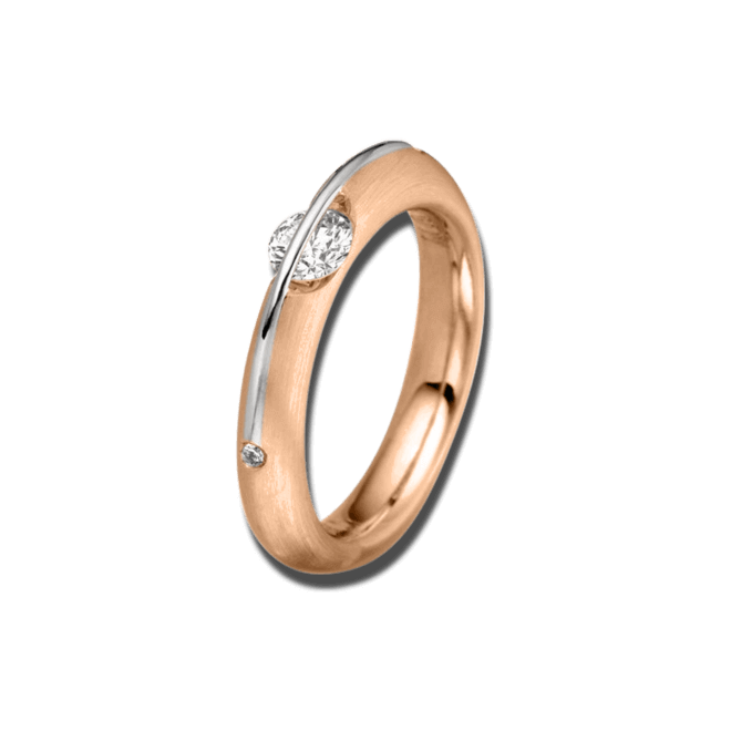 Ring Schaffrath Liberté aus 750 Roségold und 800 Platin mit 3 Brillanten (0,52 Karat)