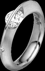 Ring Schaffrath Liberté aus 750 Weißgold und 800 Platin mit 3 Brillanten (0,75 Karat)