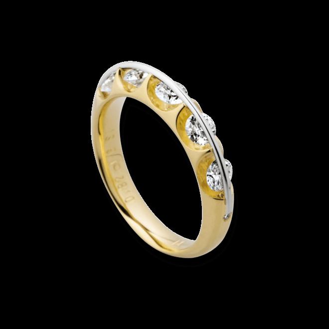 Ring Schaffrath Liberté aus 750 Gelbgold und 800 Platin mit 16 Brillanten (1,64 Karat)