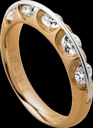 Ring Schaffrath Liberté aus 750 Roségold und 800 Platin mit 7 Brillanten (0,81 Karat)