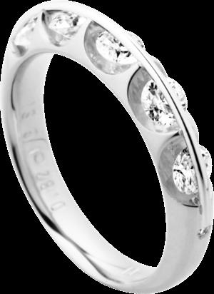Ring Schaffrath Liberté aus 750 Weißgold und 800 Platin mit 16 Brillanten (1,62 Karat)