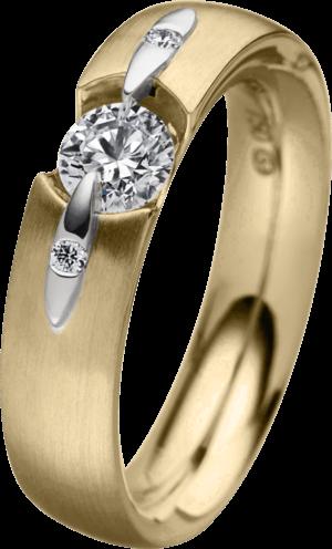 Ring Schaffrath Liberté aus 750 Gelbgold mit 3 Brillanten (0,43 Karat)