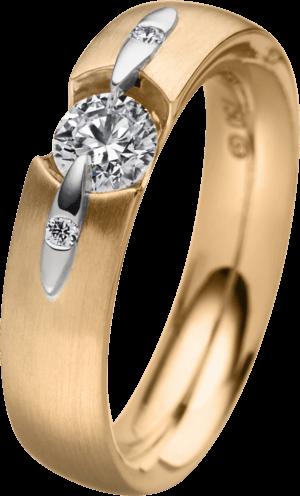 Ring Schaffrath Liberté aus 750 Roségold mit 3 Brillanten (0,22 Karat)