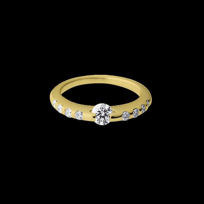Ring Schaffrath Liberté aus 750 Gelbgold und 600 Platin mit mehreren Brillanten (0,5 Karat)