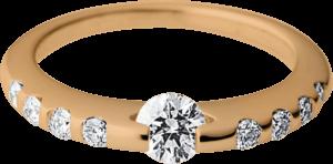 Ring Schaffrath Liberté aus 750 Roségold und 600 Platin mit mehreren Brillanten (0,5 Karat)