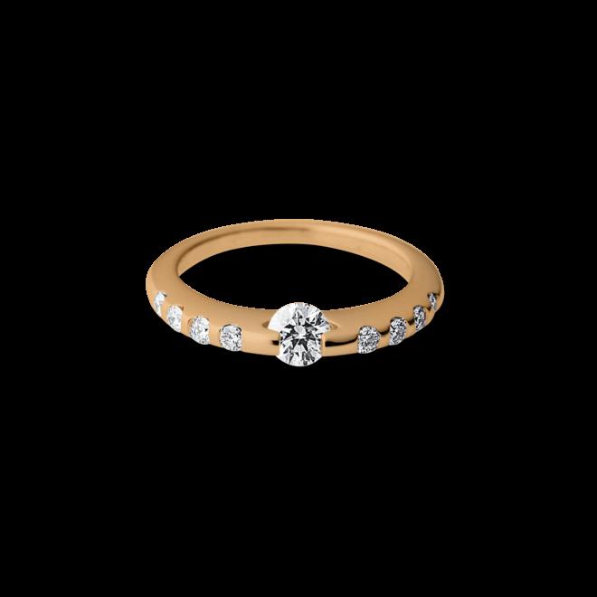 Ring Schaffrath Liberté aus 750 Roségold und 600 Platin mit mehreren Brillanten (0,6 Karat)