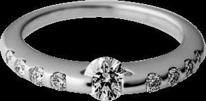 Ring Schaffrath Liberté aus 750 Weißgold und 600 Platin mit mehreren Brillanten (0,7 Karat)