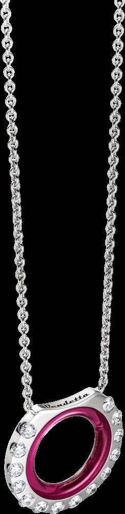 Halskette mit Anhänger Schaffrath Vendetta aus 750 Weißgold mit 14 Brillanten (1,73 Karat) und 1 Korund